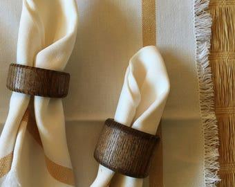 Wooden Napkin Rings (4)
