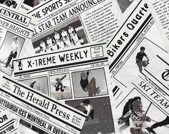 Sports week sports newspaper curtain Valance