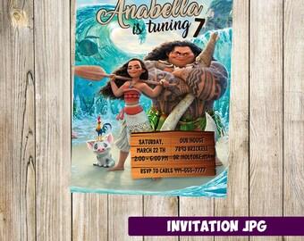 Moana Invitation, Moana Party, Moana Birthday Invitation, Girl Moana Invitation, Boy Moana Invitation, Moana  Theme Printables