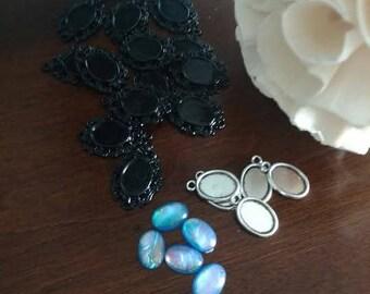 Wholesale Jewelry Making Lot 10x14mm Opal Cabochons and Pendants
