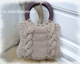 Knitted cotton recycled handbag