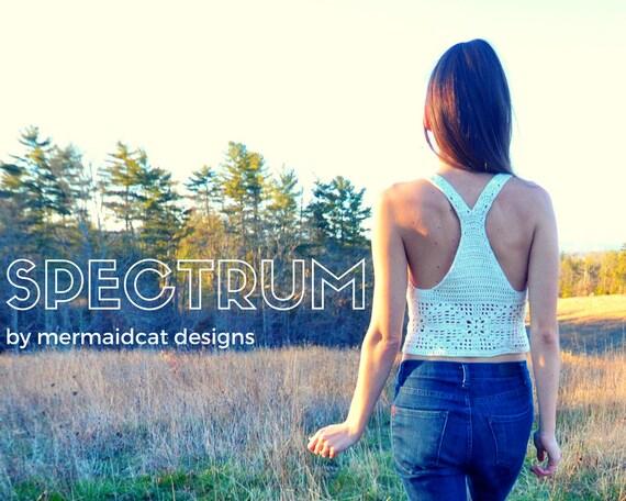 Crochet crop top pattern - Spectrum