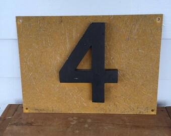 Fiberglass and Metal Railroad Sign Number Four