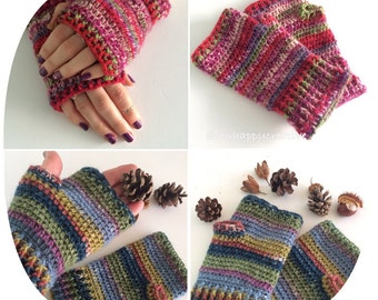 Crochet Wrist Warmers ,Fingerless Gloves, Crochet Gloves ,Fingerless Mittens  perfect christmas gift ,handmade gift.