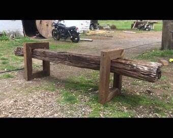 Reclaimed Beam Bench