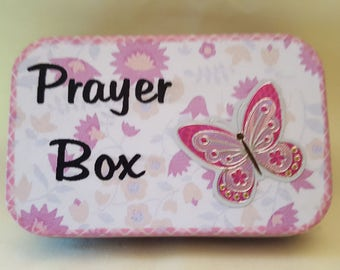 Altoids tin, Prayer Box with pen and paper, Perfect gift for any occasion