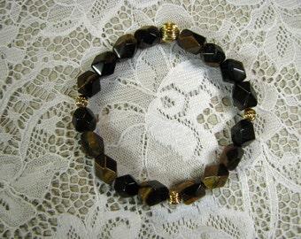 Spiritual Gemstone Stretch Bracelet-Tigers Eye
