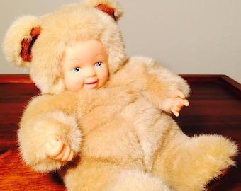 Anne Geddes Doll, Teddy Bear Doll 1998, Easter Basket Toy