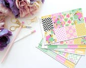 Minted Roses Vertical Weekly Kit-- Matte Planner Stickers