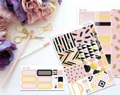 Posh Pink Personal Sized Weekly Kit -- Matte Planner Stickers