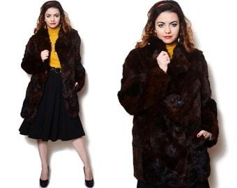 Rabbit fur coat | Etsy