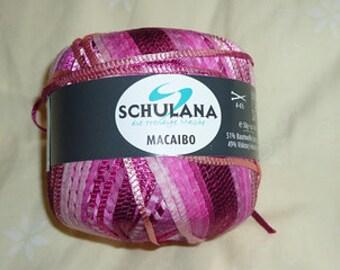 Schulana Macaibo Yarn, colorway# 3 Pink, Dye Lot# 1055