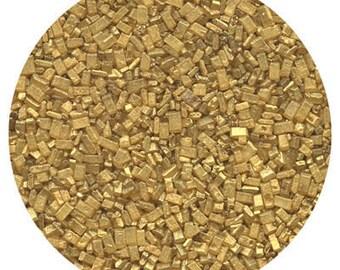 Pearlized Gold Sugar Crystals - 4oz
