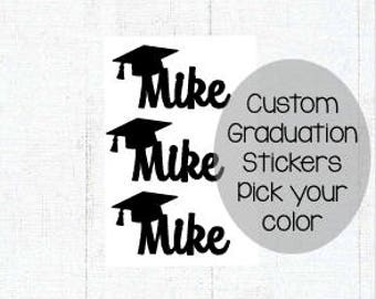 Custom Name Graduation Stickers, Graduation Envelope Seal, Personalized Envelope Seal, Graduation Sticker