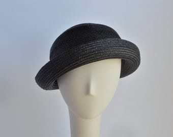 Black Straw Small Brim  Sun Hat
