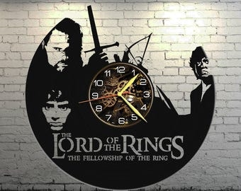 VINYL WALL CLOCK Lord of the ring, best gift, original gift