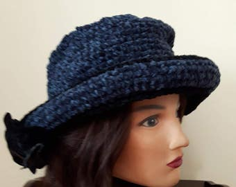 Women's Bucket Hat, Crochet Hat, Formal Hat, Vintage Hats, Retro Hats