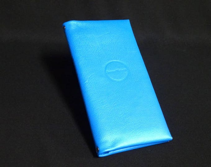 Billfold-16 Wallet - Blue - Kangaroo leather phone wallet with RFID Credit Card blocking - Handmade - James Watson
