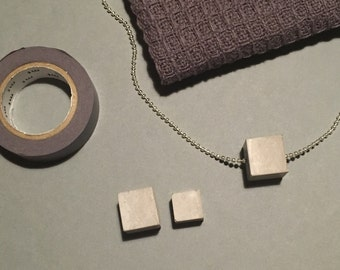 Create Your Own Concrete Cube Necklace