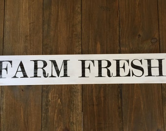 Farm Fresh Rustic Sign - Kitchen Sign, Wood Sign