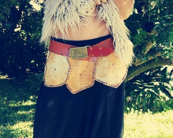 SKIRT LEATHER TRANCE, tribal, ethnic