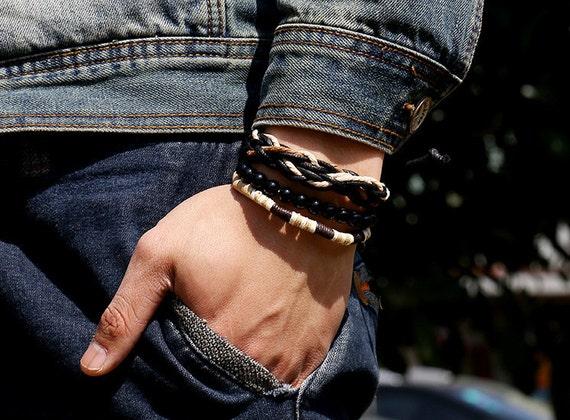 Mens Bracelet Set 3pc Set