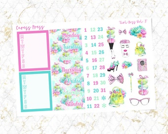 Girl Boss Vol. 3 Sidebar, Date Covers & Deco | 55 Stickers