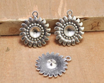 30pcs 21mmAntique Silver Sunflower Charm, Flower Charm, Jewelry Charms, Jewelry Making Charms, Sun Flower,Flower Charm Pendant