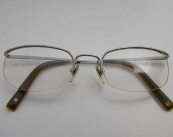 Vintage Brendel glasses, amde in germany, made in japan, silver frame, small glasses, square lens, old glasses, cool glasses, gift 192