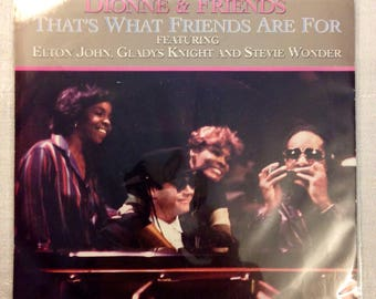 "Dionne Warwick, Stevie Wonder, Elton John That's What Friends Are For / Two Ships LP 7"" Vinyl 45rpm Arista Records"