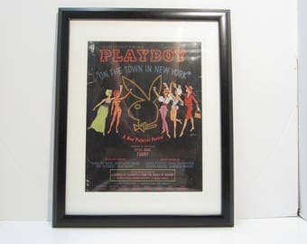 Vintage Playboy Magazine Cover Matted Framed : November 1962 -