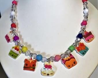 Num Noms Party Charm Necklace, Num Noms Necklace, Num Noms Birthday, Num Noms Jewelry