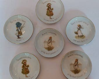 1974 Holly Hobbie collectible vintage Holly Hobbie collectible coaster trinket tray  Vintage Holly Hobby