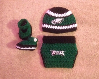 Crochet Philadelphia Eagles inspired outfit
