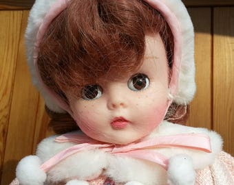 "Rare Vintage Madame Alexander Classics - Kelly Pink Snowflake Doll - 20"" 1997"
