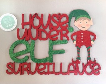 Full Elf Surveillance Plaque by Duck Duck Goose