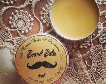 Natural Beard Balm, Men's Skincare, Men's Grooming,Beard Oil,Gifts for Him,Beard Salve,Moustache Wax,Fathers Day Gift,Beard Moustache care