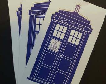 Doctor Who Tardis Blue Police Box Vinyl Sticker