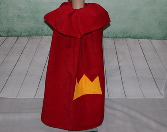king cape kingscape costume crow red