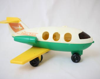 """RESERVED kcec41""""Fisher price, vintage airplane, toy fisher price"""