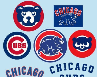 Chicago Cubs Logo SVG Chicago Cubs Clipart Chicago Cubs cut file, chicago cubs logo for cricut, silhouette cameo