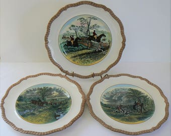 copeland spode plates set of 3 collectible copeland spode plates herring hunt series