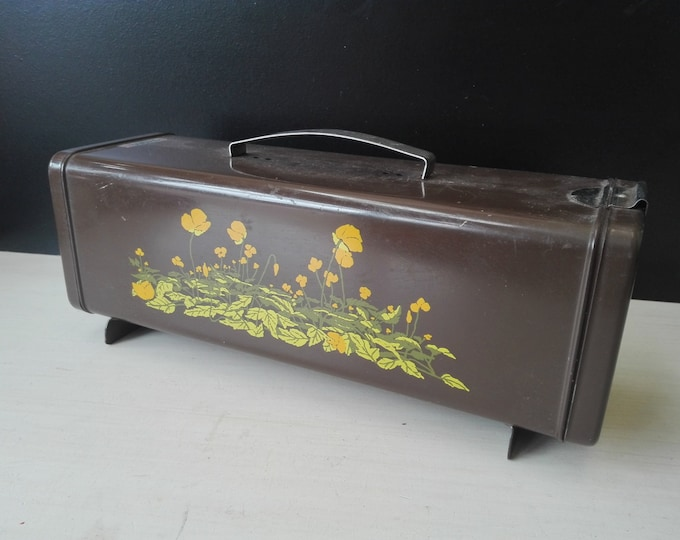 Brabantia Patrice, Brown flowered biscuit and or cake tin