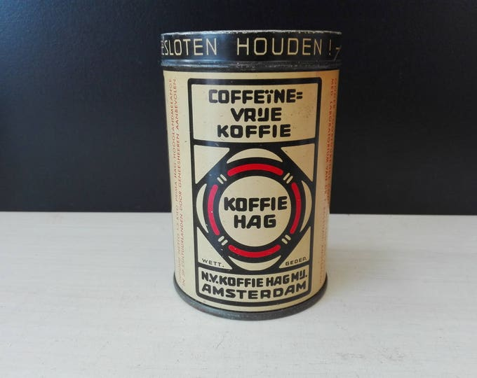Koffie Hag , vintage Dutch coffee tin