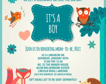 Boys birth announcement
