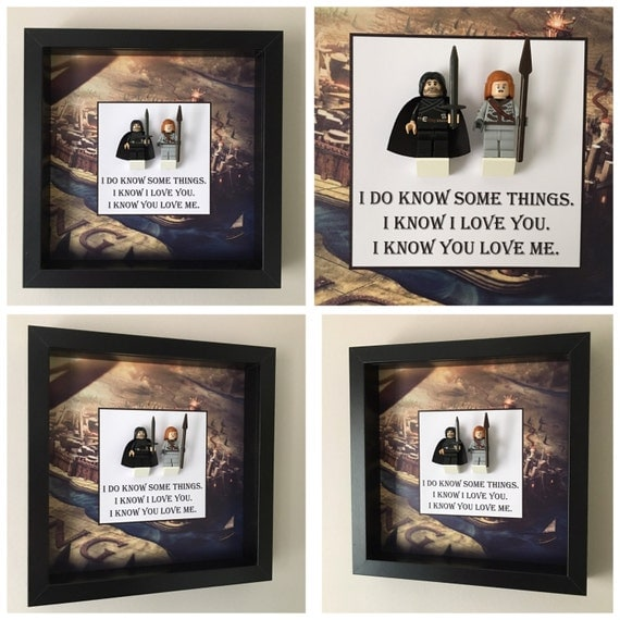 Game Of Thrones Quote Minifigure Frame, Mum, Gift, Geek, Box, Dad, Idea, For Her, For Him, Anniversary, Comic, Lego,