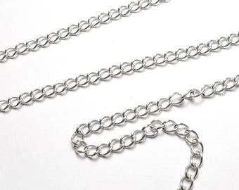 Silver chain 925 PA32-027. Small twists links