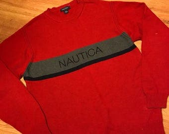 Vintage nautica sweater size large