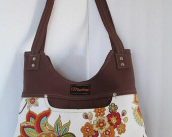 Canvas Floral Handbag/Purse