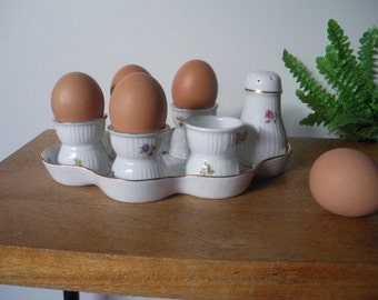 French Egg Server/Antique Egg Holder/.Egg Display.Easter /shabby chic/cottage